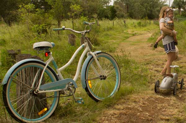 explore the farm by bike